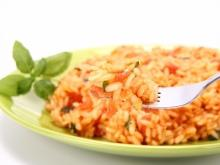 Pink Rice with Tomatoes