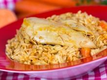 Chicken Fillet with Rice and Vegetables