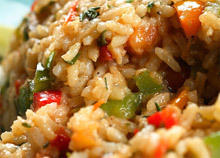 Fried Rice with Peppers