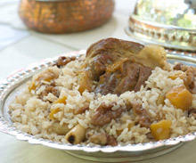 Lamb Roast with Rice