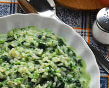 Spinach with Rice and Garlic