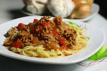 Spaghetti with Soya Mince