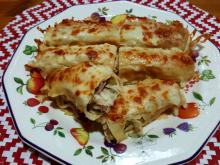 Pancakes with Chicken Meat and Cheese