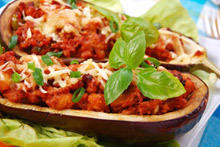 Eggplant Stuffed with Vegetables and Eggs