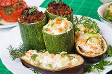 Stuffed Zucchini and Eggplants