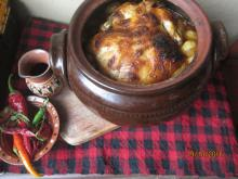 Unique Stuffed Chicken in a Clay Pot
