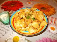 Breaded Cauliflower with Garlic Sauce