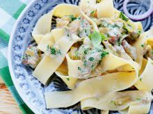 Pappardelle with Prosciutto and Boletus Mushrooms