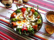 Fried Peppers with Yoghurt