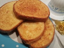 Fake Fried Toast in the Oven