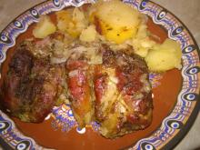 Pork Chops with Baked Potatoes