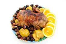 Goose with Apples and Prunes