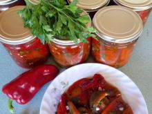 Marinated Baked Peppers in Jars