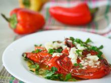 Roasted Peppers with Walnuts and Garlic