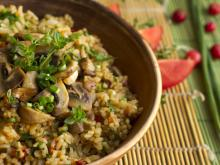 Pilaf with Bulgur and Mushrooms
