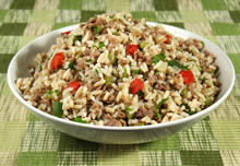 Rice with Minced Meat in a Pan