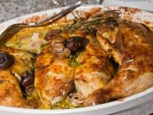 Chicken with Mushrooms and Olives