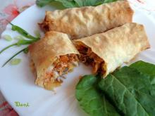 Phyllo Pastry Burritos with Chicken