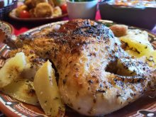 Village-Style Chicken with Potato Wedges
