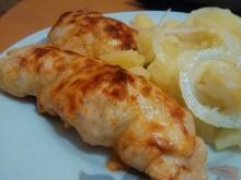 Chicken Rolls with Pickles and Cheese