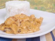 Chicken Fricassee with Mushrooms