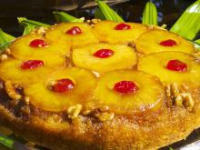 Upside-Down Cake with Pineapple