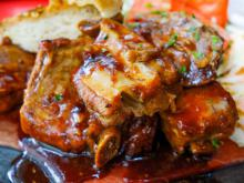 Pork Shanks with Lots of Vegetables in a Clay Pot