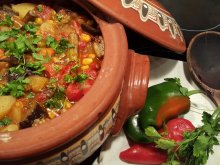 Lean Clay Pot Vegetable Dish