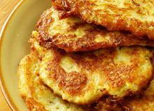 Potato Pancakes with Parmesan