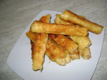 Crunchy Cigars with Potatoes and Fresh Feta Cheese