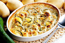 Gratin with Potatoes and Zucchini