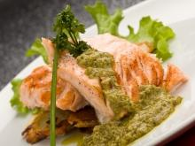 Fish with Pesto Sauce