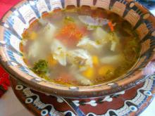 Balkan-Style Soup with Trout