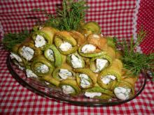 Zucchini Rolls with Cream Cheese Filling