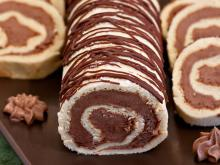 Roll with Biscuits and Chocolate