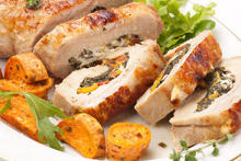 Chicken Roll with Spinach and Feta Cheese