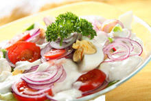 Autumn Salad with Yogurt Sauce