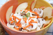 Gourmet Salad with Apples and Mushrooms