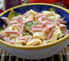 Delicious Macaroni Salad with Ham