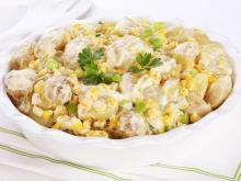Milky Potato Salad with Corn
