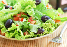 Salad with Olives and Tomatoes