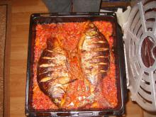 Oven-Baked Carp with Onions