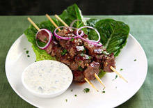 Lamb Skewers with Pomegranate Glaze