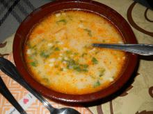 Tripe Soup with Milk, Garlic and Parsley
