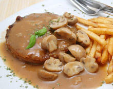Mushroom Sauce with Bacon