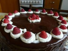 Irresistible Chocolate Cake with Raspberries
