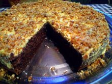 Syrupy Negresa Cake with Caramelized Walnuts