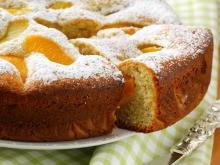 Syrup Cake with Peaches