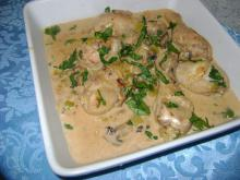 Creamy Chicken with Mushrooms and Leeks in a Multicooker
