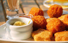 Fried Cheese Balls with Mashed Potatoes